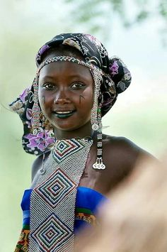 Fulani woman in Cameroon. Gorgeous