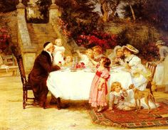 Frederick Morgan Paintings-His First Birthday