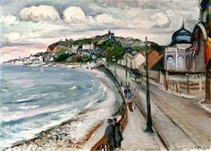 By the Sea, the Promenade at Sainte-Adresse - Achille Emile-Othon Friesz - The Athenaeum