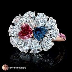 Red and violet/blue Diamonds from the Argyle mine in Australia.Repost from@levinsonjewelers