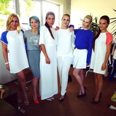 Our models before the show