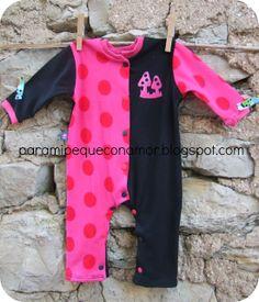 Para mi peque con amor: Pijamas para bebé recién nacido (referencia a patrón y tutorial).