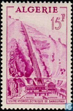Algeria - Hydroelectric plant Darguinah 1954