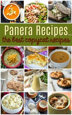 Panera Recipe- The best Copycat Panera Recipes. These homemade restaurant meals include easy soups, salads, sandwiches, desserts, dressings and more!Copycat Panera Recipe- The best Copycat Panera Recipes. These homemade restaurant . Yummy Recipes, Copykat Recipes, Great Recipes, Dinner Recipes, Cooking Recipes, Favorite Recipes, Healthy Recipes, Panara Bread Recipes, Recipes