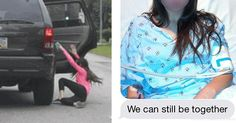 Guy Breaks Up With His GF in Moving Car and You Won't Believe What She Did (7 Photos)