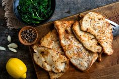 Lemon and Garlic Chicken with Spiced Spinach by nytimes #Chicken #Spinach #Lemon #Garlic #Allspice #Coriander #Cinnamon #Healthy #Light