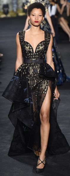Elie Saab Fall 2016 Couture Fashion Show Steampunk: add more folds the same style as are there, keep fabric, add sleeves, make top a corset style
