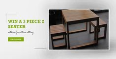Hey there, I just entered to Win a 3 Piece 2 Seater Setting! Enter now for your chance!