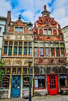 Belgian Buildings in Ghent Belgium