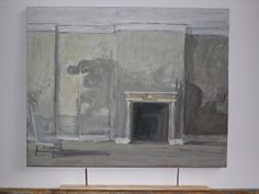 Sketch of the bedroom of J.Paul Getty at Wormsley by Pierre Bergian, 2010.
