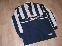 Mouse over image to zoom Have one to sell? Sell it yourself Vintage Tommy Hilfiger Athletic Rugged Originals Striped Rugby Shirt Size XL