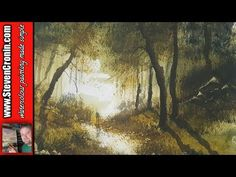 How To Paint a Simple Woodland Scene in Watercolour - YouTube