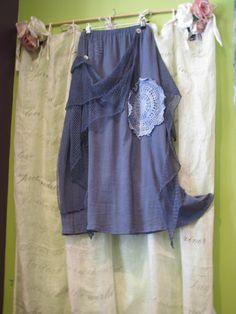 Hey, I found this really awesome Etsy listing at https://www.etsy.com/listing/179666263/gypsy-boho-denim-blue-skirt