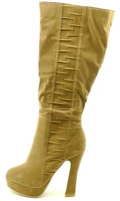 Women's Multi Color Knee High Plate Form Thick Heel Ruby Gina B-3 Fashion Dressy Winter Boots >>> Special boots just for you. See it now! : Thigh high boots