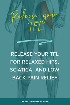 TFL Release for Relaxed Hips and Low Back Pain Relief Si Joint Pain, Hip Pain, Knee Pain, Low Back Pain Relief, Severe Back Pain, Tensor Fasciae Latae, Rheumatoid Arthritis Symptoms, Tight Hips, Porto