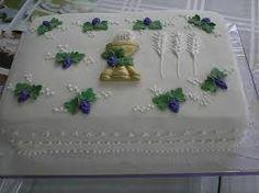 Resultado de imagem para bolos decorados com chantilly para eucaristia