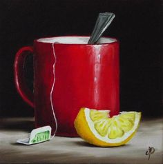 """Lemon Tea"" - Original Fine Art for Sale - © Jane Palmer"