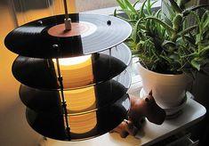 Vinyl Records Lamp by Genanvendt – upcycleDZINE
