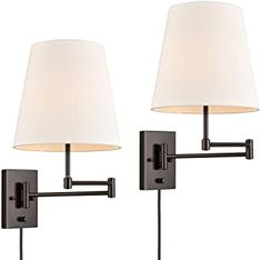 Amazon.com: farmhouse wall sconce with plug in cord Fabric Shades, Sconces, Swing Arm Wall Lamps, Wall Sconces Bedroom, Oil Rubbed Bronze, Wall Lamp, Bedroom Swing, Nightstand Lamp, Bedside Wall Sconce