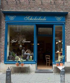 Gut & Gerne chocolate shop and bar Dusseldorf, Germany