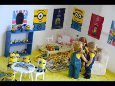 American Girl Doll Despicable Me Minion Room! HD WATCH IN HD! - YouTube