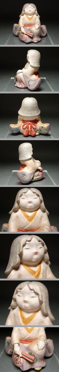 慶應◆人間国宝【鹿児島寿蔵】作 紙塑人形 『静生... - ヤフオク!