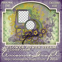 BLOGTRAIN May2011 by Heartbeatz Creationz: Steam Flower Power-TaggersKit