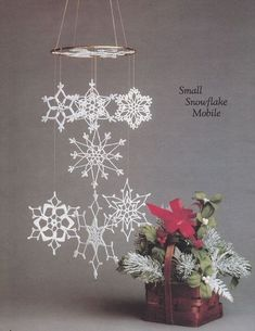 Snowflakes Crochet Patterns Cascading Snowflake by PaperButtercup Crochet Christmas Ornaments, Noel Christmas, Christmas Snowflakes, Christmas Knitting, Christmas Decorations, Crochet Snowflake Pattern, Crochet Snowflakes, Crochet Doilies, Lace Patterns