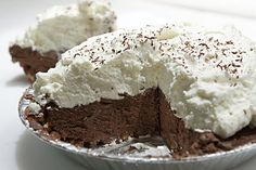 """PALEO """"MONUMENT"""" CHOCOLATE PIE. Could maybe use honey instead of agave or maybe some other liquid natural sweetening?"""