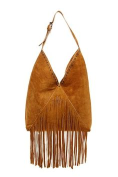 RAJ City Girl Fringe Leather Shoulder Bag