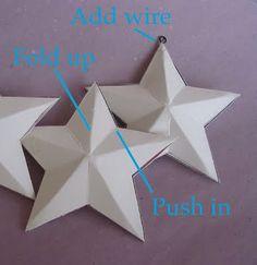 how to make cardboard stars