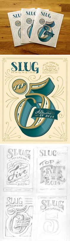 SLUG Magazine // December Cover // Courtney Blair///////