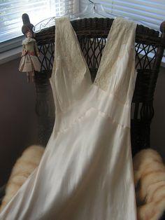 1940s silk nightgown
