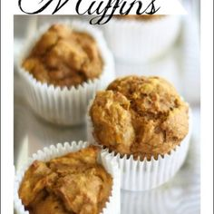 Easy, Healthy Pumpkin Muffin Recipe–No Oil! Easy, Healthy Pumpkin Muffin Recipe–No Oil! The best pumpkin muffins ever I sprinkled the top wit Baby Food Recipes, Baking Recipes, Dessert Recipes, Desserts, Healthy Sweets, Healthy Baking, Healthy Food, Pumpkin Muffin Recipes, Healthy Pumpkin Muffins