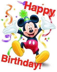 Mickey Mouse Birthday Quotes by El cumpleaños Birthday Greetings For Nephew, Free Happy Birthday Cards, Happy Birthday Kids, Happy Birthday Wishes Cards, Happy Birthday Celebration, Happy Birthday Pictures, Disney Happy Birthday Images, Card Birthday, Birthday Quotes Kids