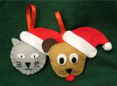 felt holiday pet ornaments