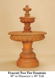 Frascati Two Tier Fountain Review #FrascatiTwoTierFountain #FrascatiFountain  #TwoTierFountain http://fountainhut.com/frascati-two-tier-fountain-review/