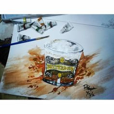 The three brumsticks's butterbeer watercolor painting  Check out the rest of my works on Instagram @mpupuutt