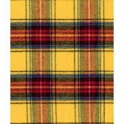 Yellow Blue Brushed Plaid Fabric by the Yard