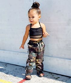 🔥 1 or 2 🔥 pants top Cute Little Girls Outfits, Toddler Girl Outfits, Cute Girls, Kids Outfits, Cute Kids Fashion, Little Girl Fashion, Toddler Fashion, Black Baby Girls, My Baby Girl