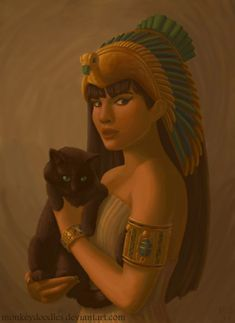 Bast- egyptian goddess of cats, champion of Ra after Sekhmet / This depiction looks like my cat, Velvet, is being held by Bast. Egyptian Cat Goddess, Egyptian Queen, Egyptian Mythology, Egyptian Art, Bast Goddess, Mother Goddess, Sacred Feminine, Ancient Egypt, Ancient History