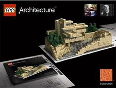 """cool but ...  :(   10"""" scale doesn't do justice.  LEGO - Frank Lloyd Wright Collection"""