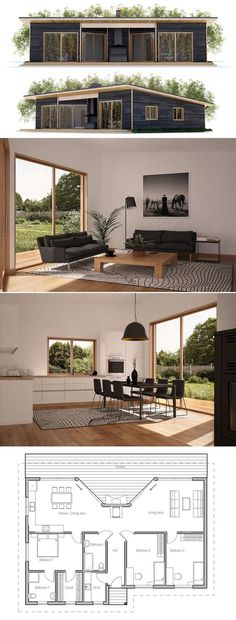 Image result for maison rectangulaire house Pinterest Search