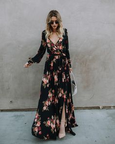 floral dress is the face of spring! – OWN RG by Lu K Vilar Trendy Dresses, Fashion Dresses, Summer Dresses, Long Casual Dresses, Floral Dress Outfits, Floral Maxi Dress, Boho Fashion, Autumn Fashion, Womens Fashion