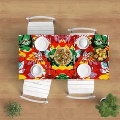 Surf Style Tablecloth - Colorful tablecloth