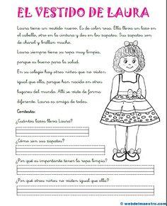 Reading Comprehension worksheets in Spanish grade. Learning Spanish For Kids, Teaching Spanish, Learn Spanish, Teacher Tools, Teacher Resources, Learning Sight Words, Reading Comprehension Worksheets, Classroom Language, Spanish Teacher