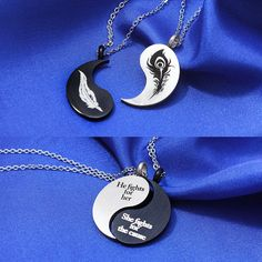 Bff Necklaces, Best Friend Necklaces, Best Friend Jewelry, Friendship Necklaces, Cute Necklace, Wolf Jewelry, Jewelry Accessories, Best Friend Outfits, Magical Jewelry