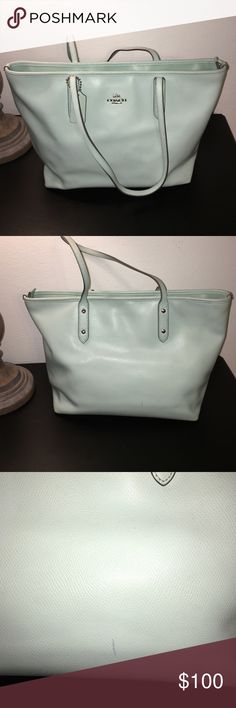 Coach tote bag Barely used Coach tote bag in Mint. Small mark on the back of the bag is barely noticeable. Coach Bags Totes