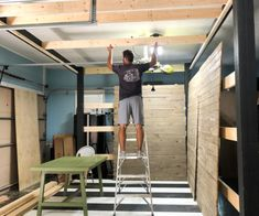 HowTo Build Tall Garage Storage Shelves - Bower Power Everyone needs more storage in their garage. We'll show you how to build tall storage shelves, perfect for even the smallest garage to save space. Tall Outdoor Planters, Diy Planters, Garage Storage Shelves, Garage Organization, Furniture Makeover, Diy Furniture, Wooden Beams Ceiling, Concrete Pad, Faux Shiplap