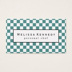 White Checkered Pattern Business Cards Light Blue - light gifts template style unique special diy